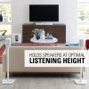 Sanus White Wireless Speaker Stands Designed For Sonos One, Play:1 And Play:3