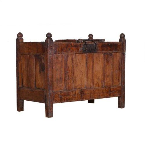 Antique Wood Storage Box Ue63