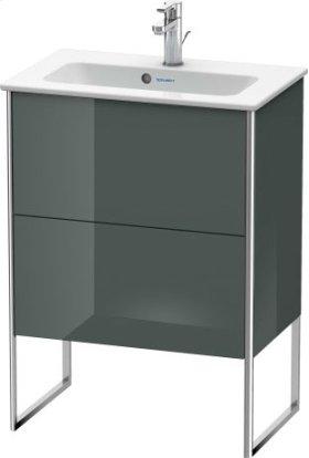 Vanity Unit Floorstanding Compact, Dolomiti Grey High Gloss Lacquer