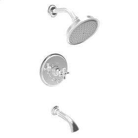 Antique-Brass Balanced Pressure Tub & Shower Trim Set