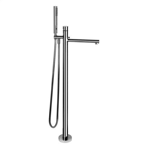 "TRIM PARTS ONLY Floor-mounted tub filler Handshower 59"" flex hose Diverter Spout projection 9-3/4"" Requires in-floor rough valve 48189 Handshower max flow rate 2.0 GPM Spout max flow rate 5.3 GPM at 43 PSI"