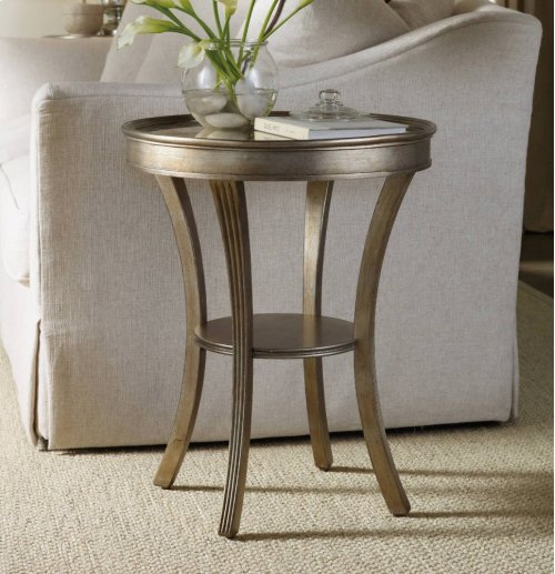 Sanctuary Round Mirrored Accent Table - Visage