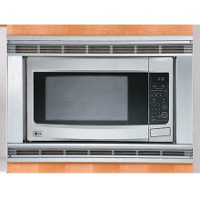 """The optional 30"""" trim-kit is available to give your LRM2060ST countertop microwave a premium built-in look."""