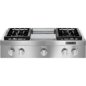 Pro-Style® Gas Rangetop with Griddle, 36""