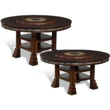 "Santa Fe 60"" Round Dual Height Table w/ Lazy Susan"