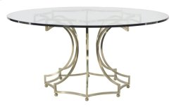 Miramont Round Dining Table Glass Top with Metal Base