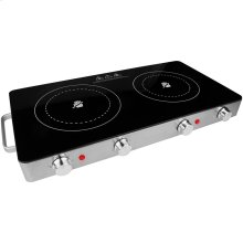 Double Infrared Electric Countertop Burner