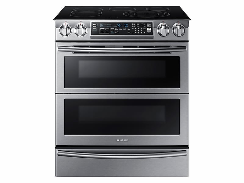 Ne58k9850ws Samsung Appliances 5 8 Cu Ft Slide In Electric Flex