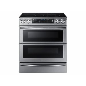 SAMSUNG5.8 cu. ft. Slide-In Electric Range with Flex Duo & Dual Door in Stainless Steel
