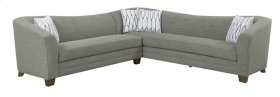 2 PC Sectional-lsf Loveseat-rsf Corner Sofa-gray#zy50681-8 W/4 Accent Pillows #zy50140-2