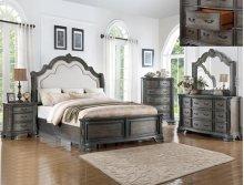 Sheffield Queen Bedroom Group: Queen Bed, Nightstand, Dresser & Mirror