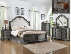 Sheffield Media Chest Antique Grey Product Image