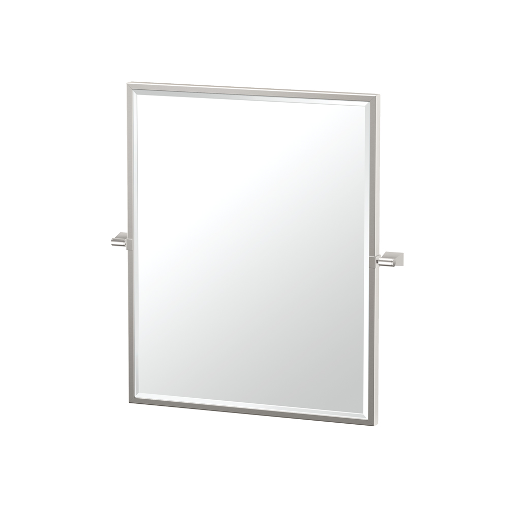 Bleu Framed Rectangle Mirror in Chrome