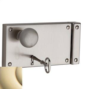 Lifetime Polished Brass 5632 Horizontal Rim Lock Product Image