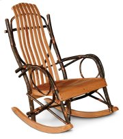 Hickory Rocker with Oak Slats, Jumbo Size Product Image