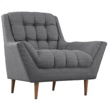 Response Upholstered Fabric Armchair in Gray