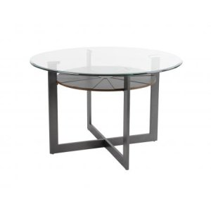 Steve Silver Co.Olson 48 inch Round Glass Top Table