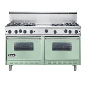 """Sage 60"""" Open Burner Commercial Depth Range - VGRC (60"""" wide, six burners 12"""" wide griddle/simmer plate 12"""" wide char-grill)"""