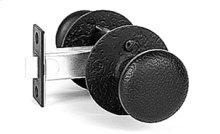 Double Knob Latch Set - Rough Iron