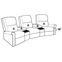 ONE ARM THEATER RECLINER