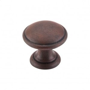 Rounded Knob 1 1/4 Inch - Patina Rouge
