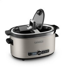 Architect Series 6-Quart (5.7L) Slow Cooker with Easy Serve Lid - Cocoa Silver
