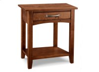 Glengarry 1 Drawer Open Night Stand with Shelf Product Image