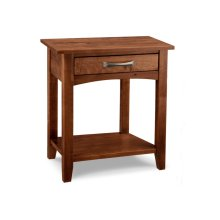 Glengarry 1 Drawer Open Night Stand with Shelf