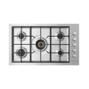 "Gas on Steel Cooktop, 36"", Flush Fit"