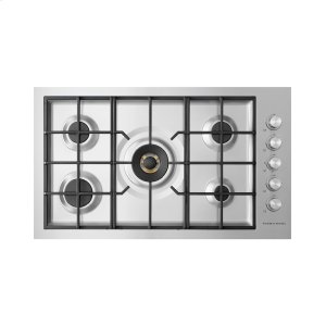 "Fisher & PaykelGas on Steel Cooktop, 36"", Flush Fit, LPG"