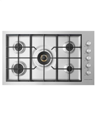 """Gas on Steel Cooktop, 36"""", Flush Fit, LPG"""