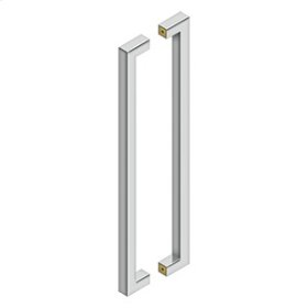 """24"""" Contemporary Pulls, Back-To-Back - Polished Stainless"""
