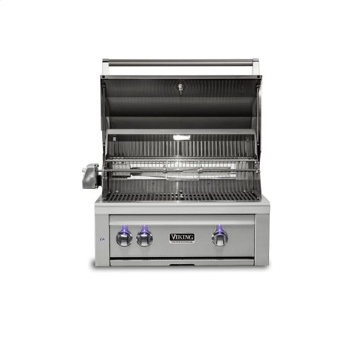 """30""""W. Built-in Grill w ProSear Burner and Rotisserie, Propane Gas"""