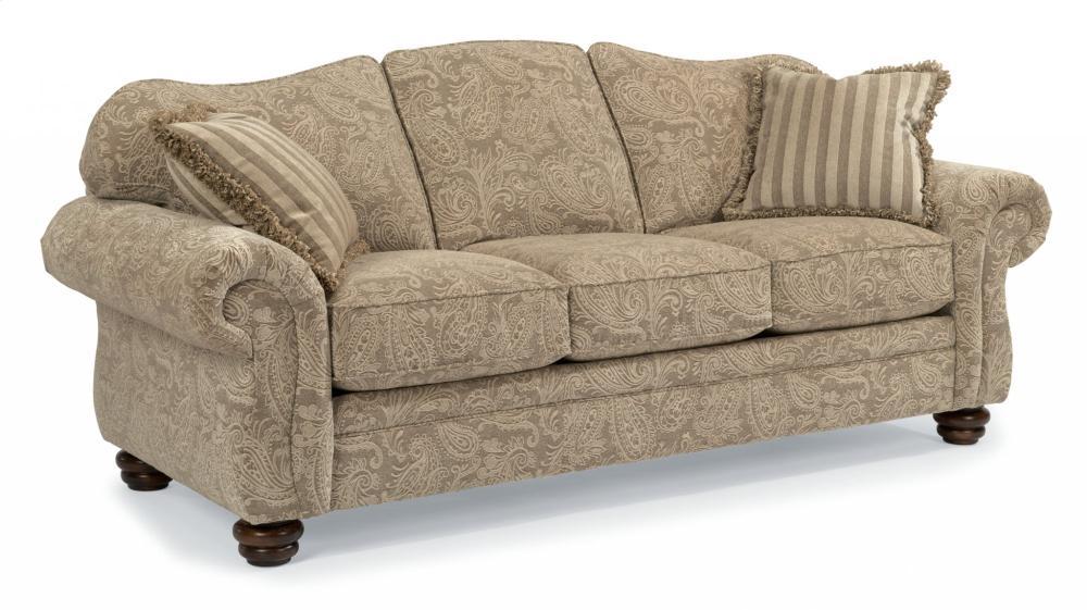 Bexley One Tone Fabric Sofa Without Nailhead Trim