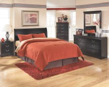Huey Vineyard - Black 3 Piece Bed Set (King)