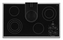 """4 Elements Pure Ceramic Glass Surface with Built-in Downdraft Vent Electric 36"""" Width Architect® Series II"""