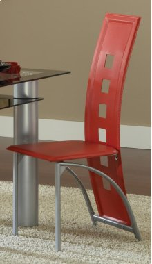 Metro Metal Dinette Chair - Red
