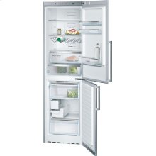 800 Series free-standing fridge-freezer with freezer at bottom 60 cm, Inox-easyclean B11CB81SSS