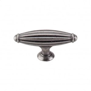 Tuscany T-Handle 2 5/8 Inch - Pewter Antique
