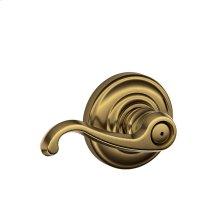 Callington Lever with Andover trim Bed & Bath Lock - Antique Brass
