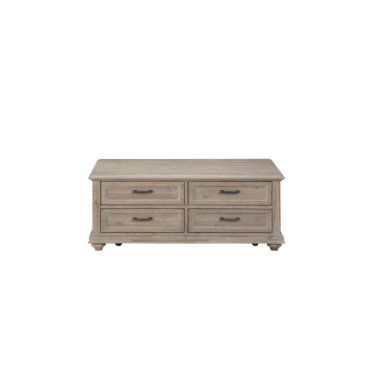 Cocktail Table With Four Functional Drawers, Brown