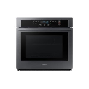 "Samsung30"" Single Wall Oven with Wi-Fi in Black Stainless Steel"