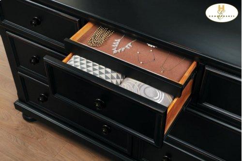 HOMELEGANCE 1714G Laurelin 4-Piece Bedroom Group - Queen Platform Bed, Dresser, Mirror & Chest