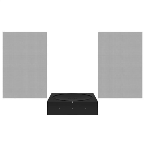 Black- Architectural sound with Amp and Sonos In-Wall by Sonance