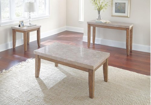 "Franco Marble Top End Table, 22""x 24"" x 24"""