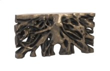 Square Root Console Table, Antique Bronze