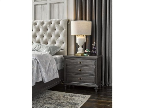 Button Front Nightstand