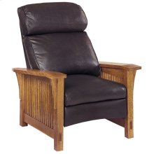 Recliner Bustle Back Upholstery, Cherry Spindle Morris Recliner