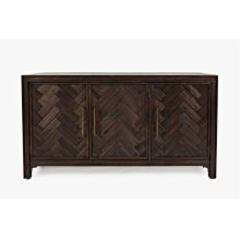 Gramercy Dark Chevron 3 Door Accent Cabinet