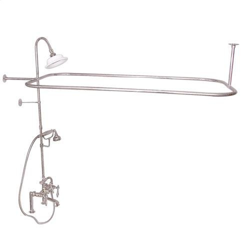 Code Rectangular Shower Unit - Lever with Finials / Polished Nickel